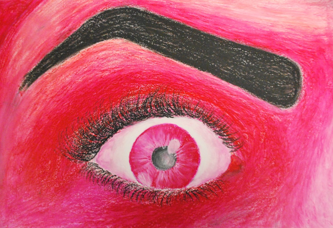 Art I Oil Pastel Self Portraits